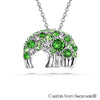 Elephant Hill Necklace (Peridot, Pure Rhodium Plated) - Lush Addiction, Crystals from Swarovski®