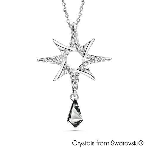 Northern Star Necklace (Pure Rhodium Plated) - Lush Addiction, Crystals from Swarovski®