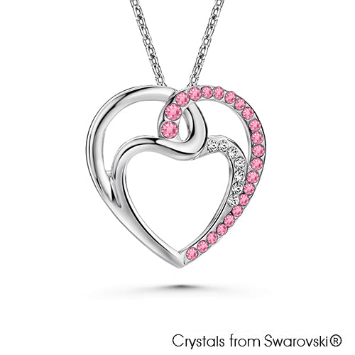 Infinity Love Necklace (Light Rose, Pure Rhodium Plated) - Lush Addiction, Crystals from Swarovski®