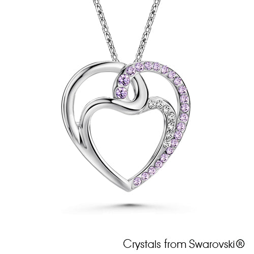 Infinity Love Necklace (Violet, Pure Rhodium Plated) - Lush Addiction, Crystals from Swarovski®