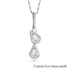 Lustrous Necklace (Clear Crystal, Pure Rhodium Plated) - Lush Addiction, Crystals from Swarovski®