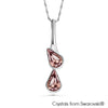 Lustrous Necklace (Light Amethyst, Pure Rhodium Plated) - Lush Addiction, Crystals from Swarovski®