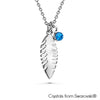 Phyllis Necklace (Sapphire, Pure Rhodium Plated) - Lush Addiction, Crystals from Swarovski®