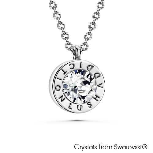 Lush Necklace (Clear Crystal, Pure Rhodium Plated) - Lush Addiction, Crystals from Swarovski®