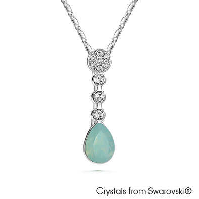 Pacific Opal Necklace (Pure Rhodium Plated) - Lush Addiction, Crystals from Swarovski®