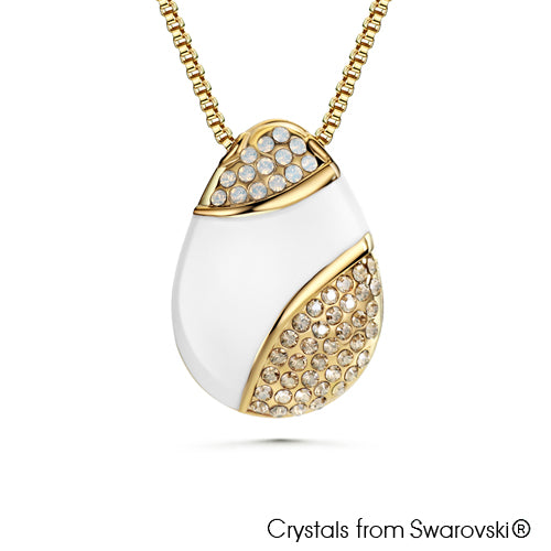 Reverso Nyssa Necklace (Front, 18K Gold Plated) - Lush Addiction, Crystals from Swarovski®
