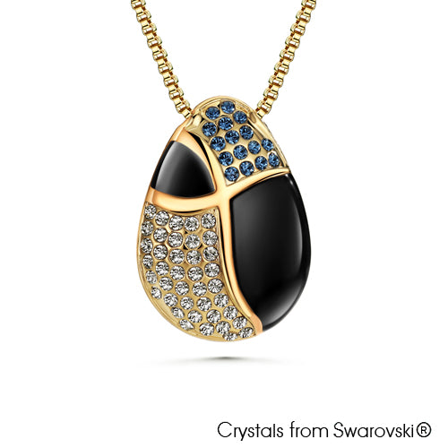 Reverso Nyssa Necklace (Back, 18K Gold Plated) - Lush Addiction, Crystals from Swarovski®