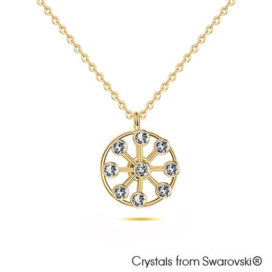 Ferris Wheel Necklace 18K Gold Rhodium Plated Lush Addiction Crystals from Swarovski