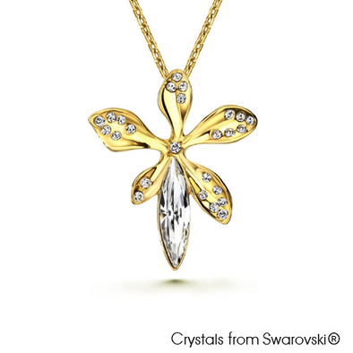Laelia Necklace (Clear Crystal, 18K Gold Plated) - Lush Addiction, Crystals from Swarovski