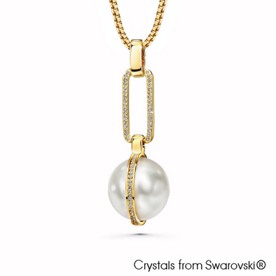 Pearla Necklace (Clear Crystal, 18K Gold Plated) - Lush Addiction, Crystals from Swarovski®