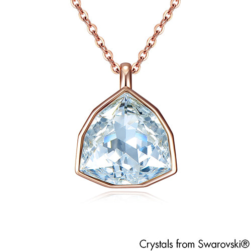 Trilliant Necklace (Clear Crystal, Pure Rhodium Plated) - Lush Addiction, Crystals from Swarovski®