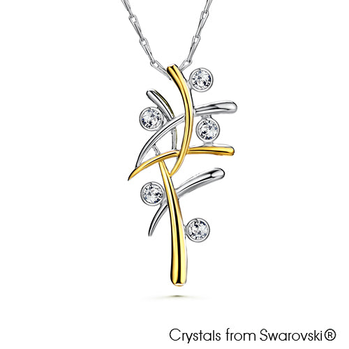 Aura Necklace (Clear Crystal, Pure Rhodium and 18K Gold Plated) - Lush Addiction, Crystals from Swarovski®