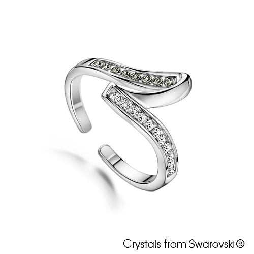 Extravagance Ring (Clear Crystal, Pure Rhodium Plated) - Lush Addiction, Crystals from Swarovski®