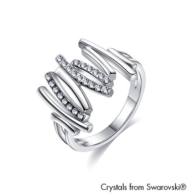 Artemis Ring Clear Crystal Pure Rhodium Plated Lush Addiction Crystals from Swarovski
