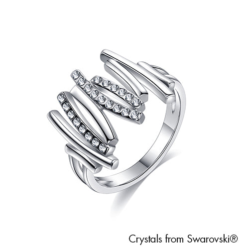 Artemis Ring (Clear Crystal Pure Rhodium Plated) - Lush Addiction Crystals from Swarovski