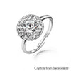 Cloris Ring (Clear Crystal, Pure Rhodium Plated) - Lush Addiction, Crystals from Swarovski®