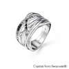 Fortitude Ring (Jet, Pure Rhodium Plated) - Lush Addiction, Crystals from Swarovski®