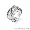 Fortitude Ring (Siam, Pure Rhodium Plated) - Lush Addiction, Crystals from Swarovski®