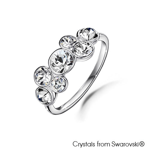Symphony Ring (Clear Crystal, Pure Rhodium Plated) - Lush Addiction, Crystals from Swarovski®