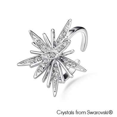 Astra Ring (Pure Rhodium Plated) - Lush Addiction, Crystals from Swarovski®