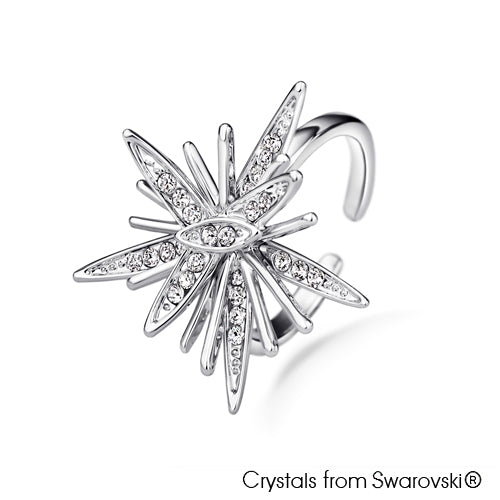 Astra Ring (Pure Rhodium Plated) - Lush Addiction