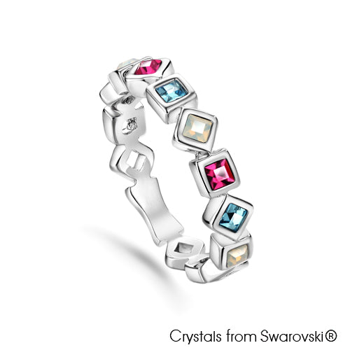 Opulence Mini (Multi-Colour, Pure Rhodium Plated) - Lush Addiction, Crystals from Swarovski®