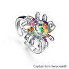 Jellyfish Ring (Multi-Colour, Pure Rhodium Plated) - Lush Addiction, Crystals from Swarovski®