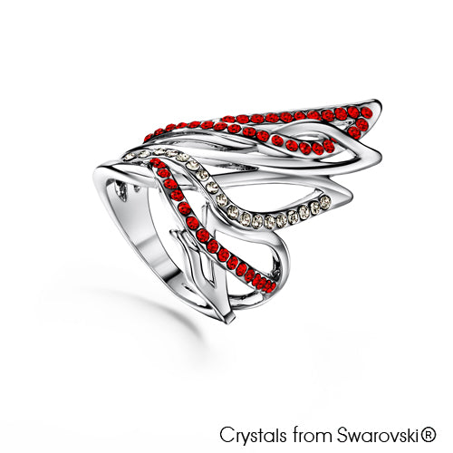 Passion Ring (Hyacinth, Pure Rhodium Plated) - Lush Addiction, Crystals from Swarovski®