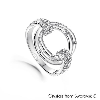 Circles of Life Ring (Clear Crystal, Pure Rhodium Plated) - Lush Addiction, Crystals from Swarovski®