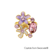 Calantha Ring Light Amethyst 18K Gold Plated Lush Addiction Crystals from Swarovski
