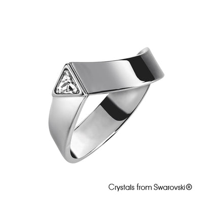 Trinity Couple Ring Guy Clear Crystal Gun Metal Plated Lush Addiction Crystals from Swarovski