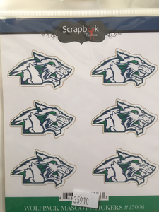 Glacier Wolfpack Mascot Stickers
