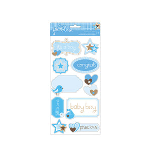 Pebbles Baby Boy Accent & Phrase Stickers