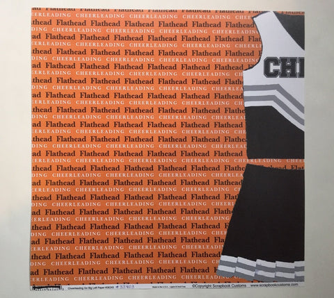 Flathead Cheerleading Go Big Left Paper