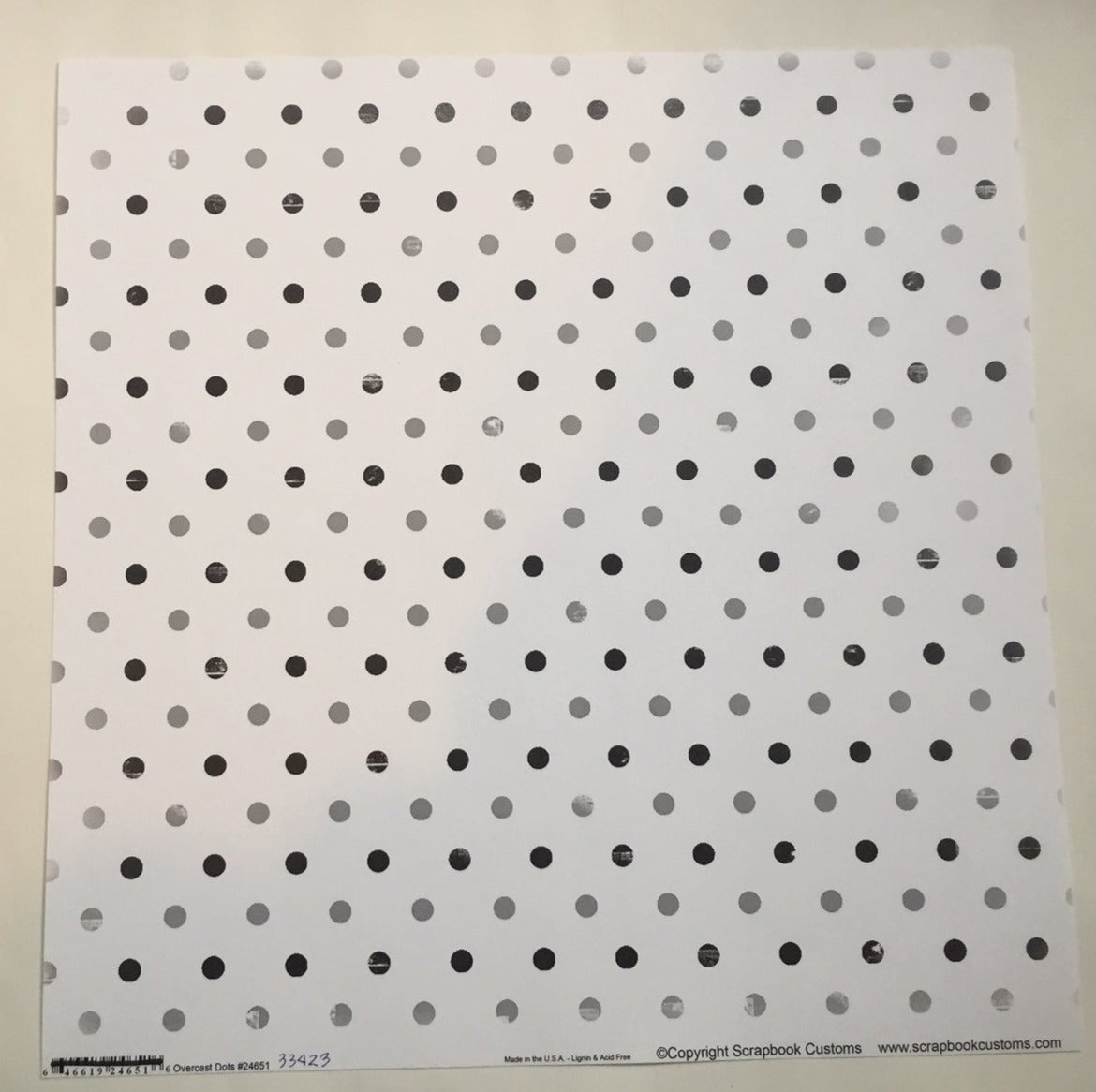Overcast Dots Black & Gray