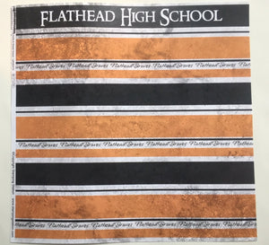 Flathead High School Swirls & Stripes Left