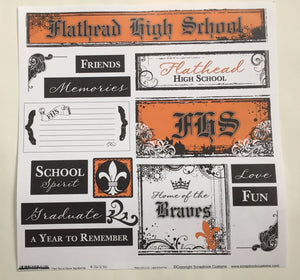 Flathead High School Fleur De Lis Decor Tag