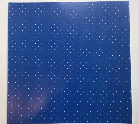 Custom Mini Polka Dots Blue