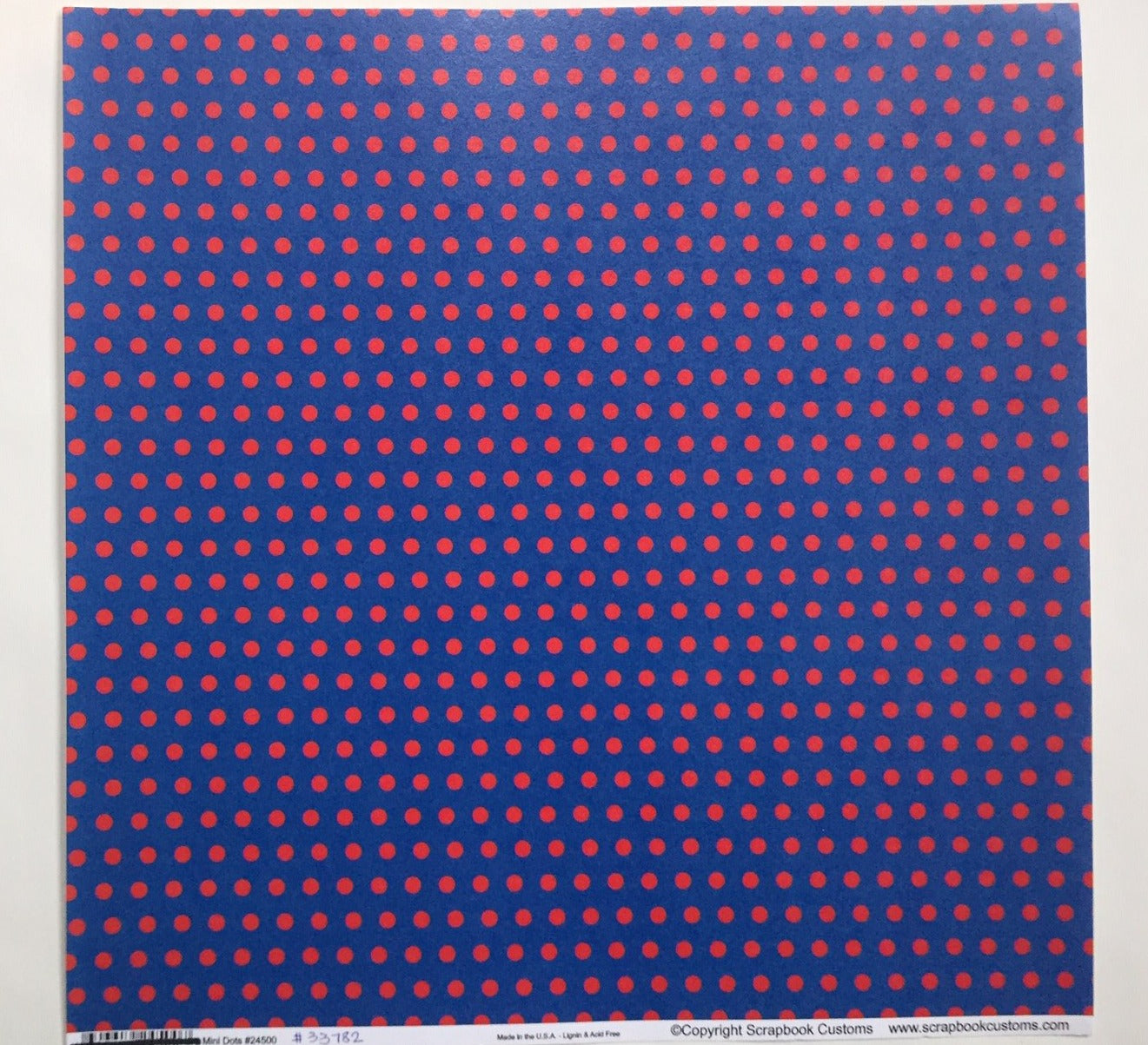 Mini dots Blue with Red