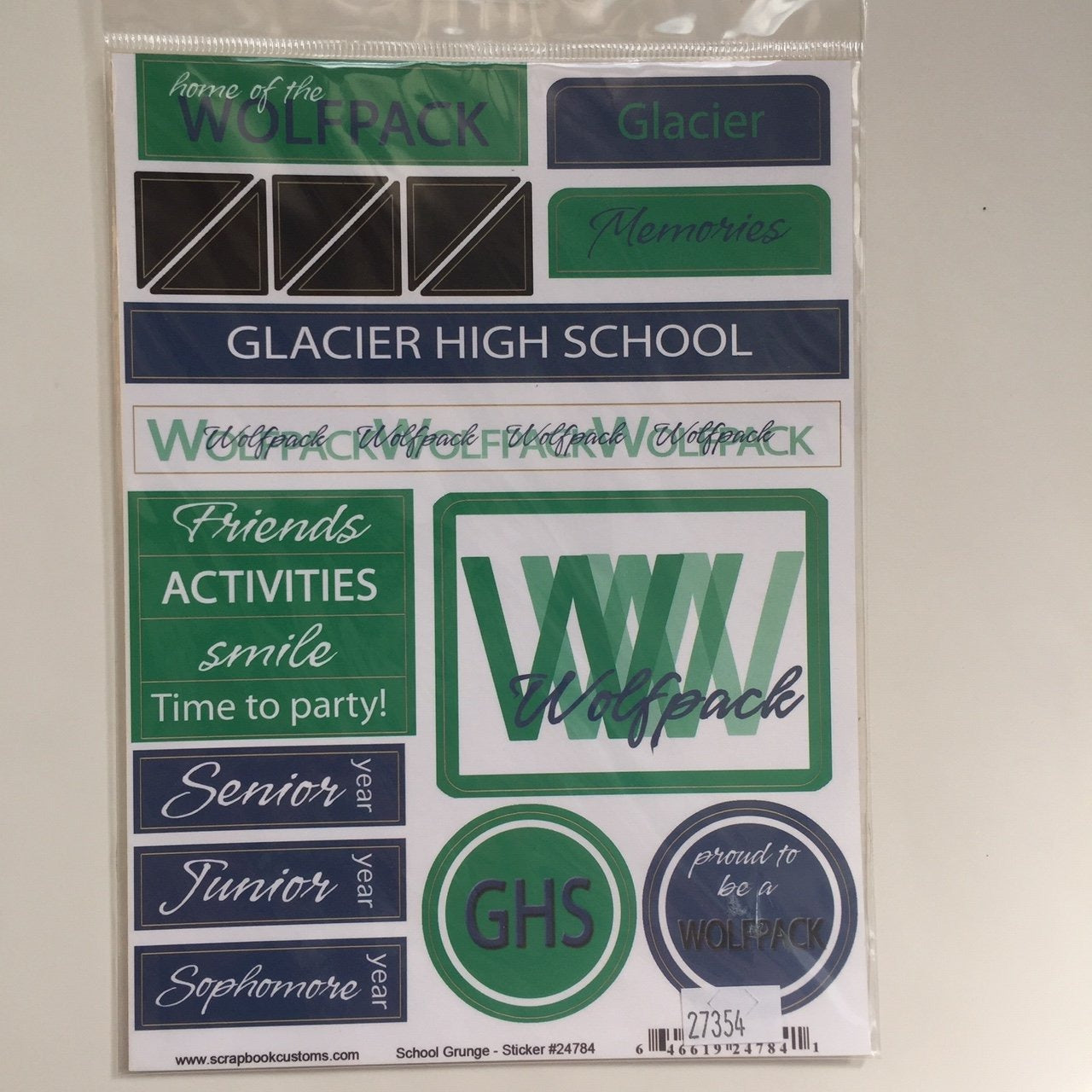 Custom Glacier High School Stickers