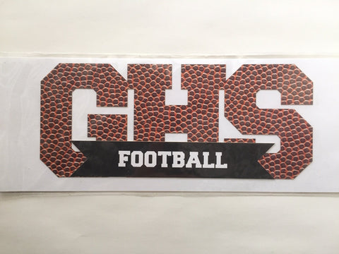 Sports Texture GHS Football Die Cut