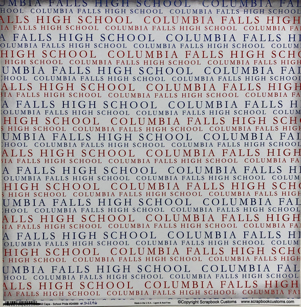 "Custom All Caps ""Columbia Falls High School"""