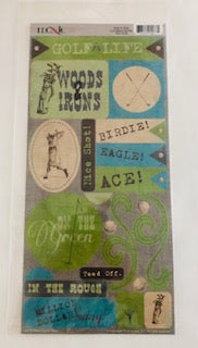 Hole in One Golf Collection Cardstock Stickers