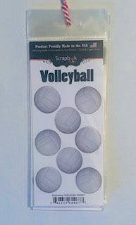 Repeating Volleyballs Stickers