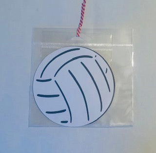 Large Volleyball Die Cut