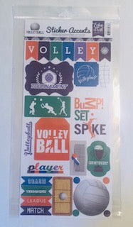Volleyball Sticker Accents