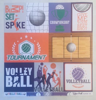 Journaling Cards Volleyball Paper