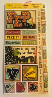 Pep Rally Cardstock Stickers