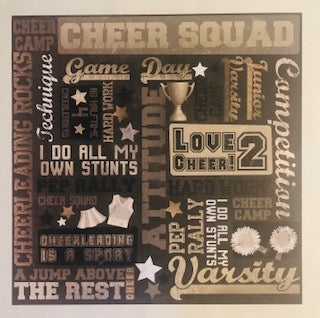 Cheer Squad Collage Paper