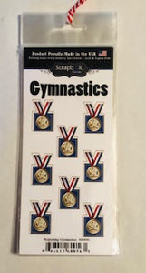 Repeating Gymnastics Medal Stickers